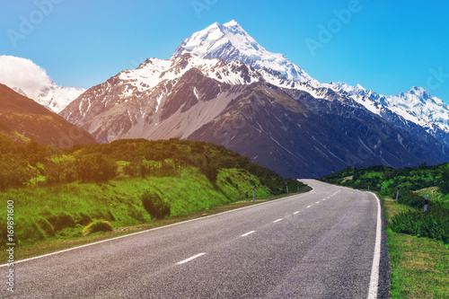 Road to Mt Cook, New Zealand.