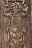 Bas-relief érotique du porche nord de l'église Saint-Maclou. Rouen - 169893453
