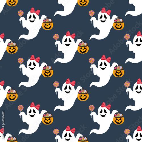 Materiał do szycia Halloween ghost pattern