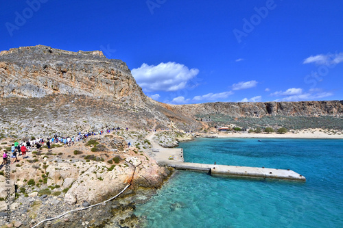 Aluminium Donkerblauw The Gramvousa island, Crete, Greece.