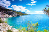 View of Adriatic Sea and quiet majestic bay in Dalmatia - 169913203
