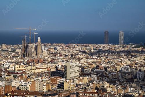 Aluminium Barcelona View of Barcelona and Sagrada Familia