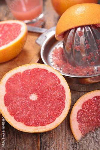 Fotobehang Sap red grapefruit