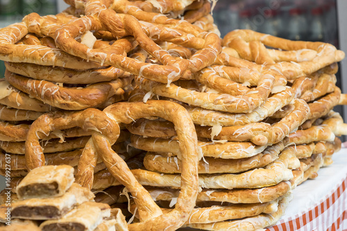 Papiers peints Budapest Food at the fair in Hungary Budapest baking sweets strudel