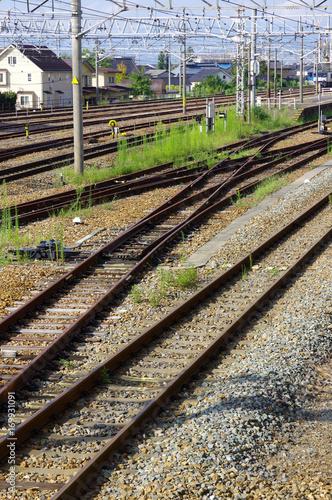 Papiers peints Voies ferrées 線路 鉄道イメージ