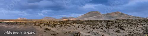 Deurstickers Canarische Eilanden view of Timanfaya national park with volcanoes