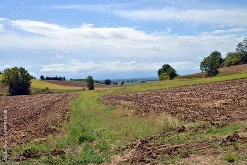 Fotobehang Cappuccino panorama del Monferrato, Piemonte, Italia