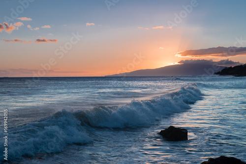 Foto op Canvas Zee zonsondergang Maui Sunset