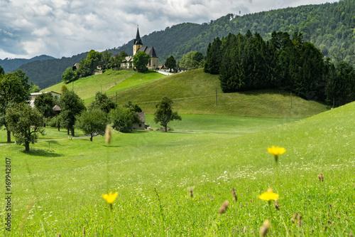 Fotobehang Pistache Walfahrtskirche