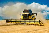Combine harvester at the grain harvest - 9864 - 169944263