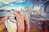 Ropes on a sailboat - 169950620