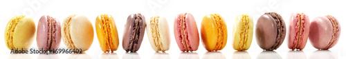 Keuken foto achterwand Macarons Macarons - Panorama