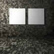 3D blank canvases on stone interior