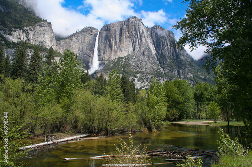 Yosemite Falls River View Poster