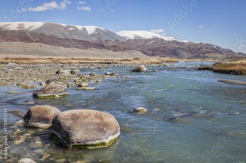Fotobehang Donkergrijs Hovd River, Mongolia