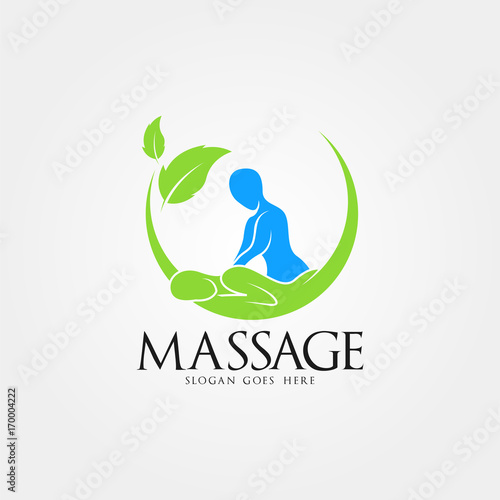 Massage Logo Vector Art