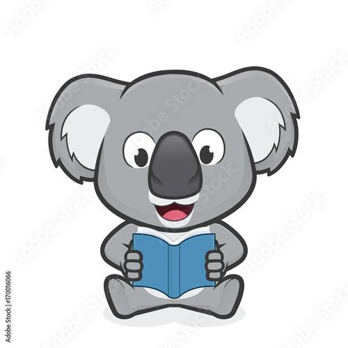 koala reading a book buy photos ap images detailview rh apimages com Koala Template Koalas with Suitcases