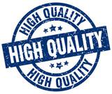 high quality blue round grunge stamp - 170034288