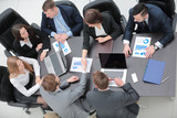 handshake financial partners at your Desk