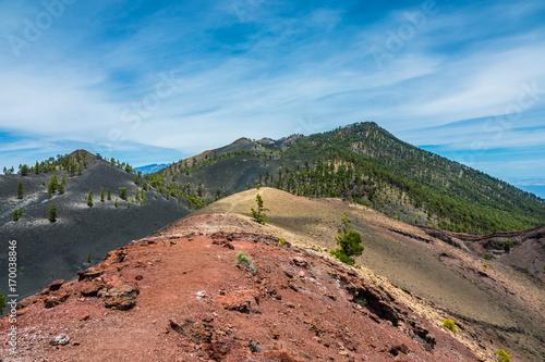 Deurstickers Canarische Eilanden La Palma volcanos landscape