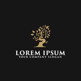luxury tree logo design concept template