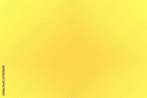 Gradient halftone dots background. Pop art template, texture. Yellow and orange. Vector illustration. - 170041848