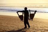 Peanut seller on the beach at sunset - 170046236