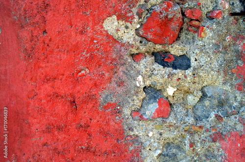 Papiers peints Brick wall Rote beschädigte Mauer