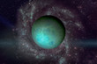 Planet Uranus. Elements of this image furnished by NASA. - 170047077