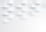 White geometric background.  - 170056032
