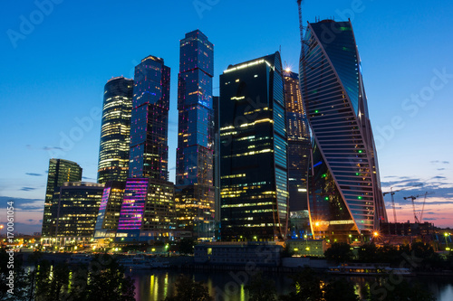 Papiers peints Moscou Moscow city at sunset,