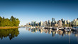 Reflections of Downtown Vancouver, seen from Stanley Park