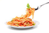 Spaghetti with tomato and basil - 170072425