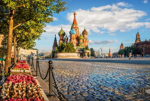 Fotobehang Moskou Цветы на Красной Площади Flowers on Red Square