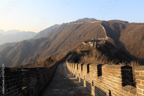 Fotobehang Peking The Great Wall of China. The Great Wall of China is the world's longest wall and biggest ancient architecture