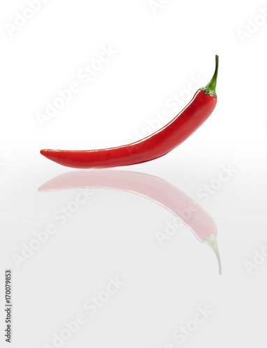 Fotobehang Hot chili peppers peperoncino riflesso