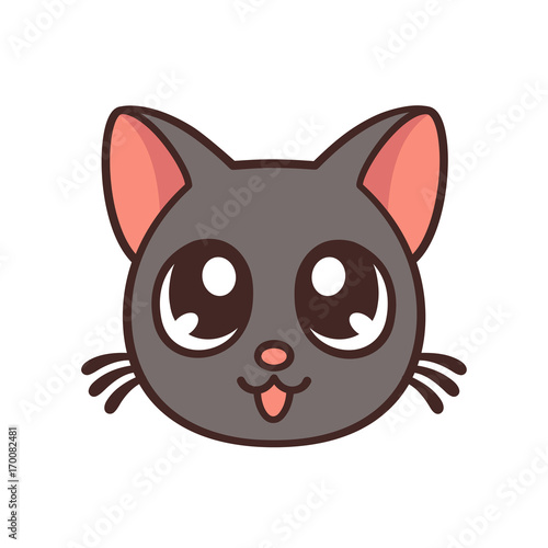 Cute anime cat - 170082481