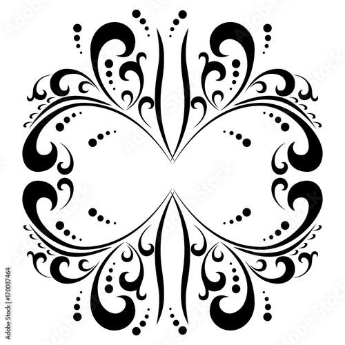 Foto op Plexiglas Vlinders in Grunge ornament
