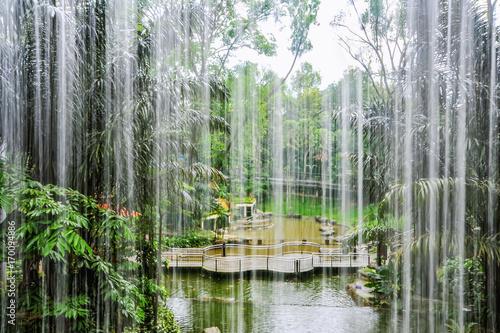 Waterfall in Kuala Lumpur Bird Park Poster
