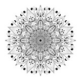 Outline Mandala for coloring book page. Anti-stress therapy vector pattern