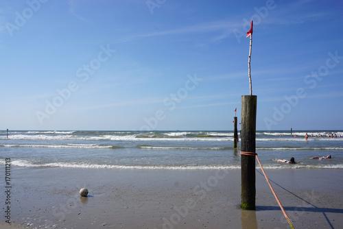 Aluminium Noordzee Strand auf Norderney