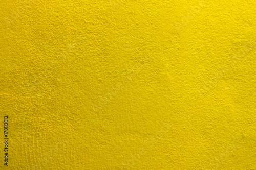 Poster Betonbehang The yellow cement concrete texture wall background