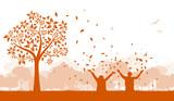 Silhouette Spaß im Herbst