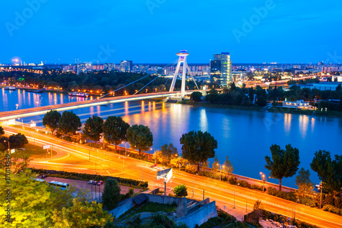Foto op Plexiglas UFO Most SNP bridge, Bratislava