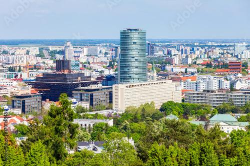 Bratislava aerial panoramic view Poster