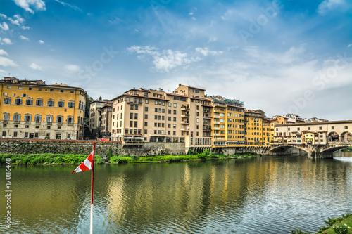 Staande foto Rome Lungarno by Ponte Vecchio