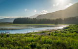 Scenic summer afternoon sight along Loch Cill Chriosd, Isle of Skye, Scotland.