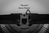 Text Words Have Power typed on retro typewriter - 170137038
