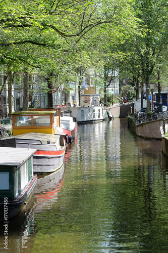 Fotobehang Amsterdam Amsterdam in Holland