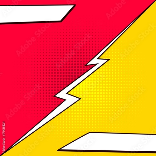 Comic book style contrast background